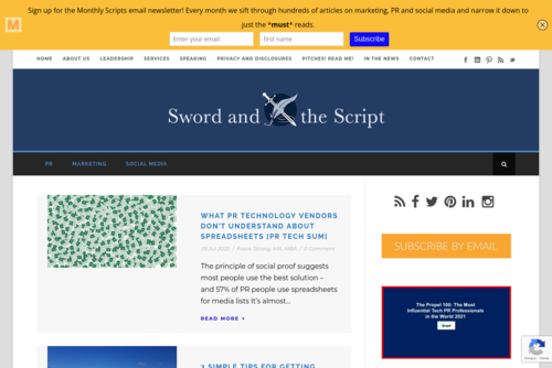 Tapping White Space for Creative Blog Ideas  - http://www.swordandthescript.com