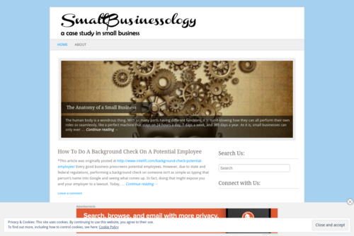 The Anatomy of a Small Business  - http://smallbusinessology.wordpress.com