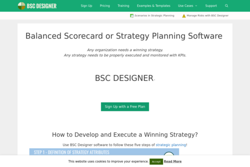 Use Balanced Scorecard Template with BSC Designer - http://www.bscdesigner.com