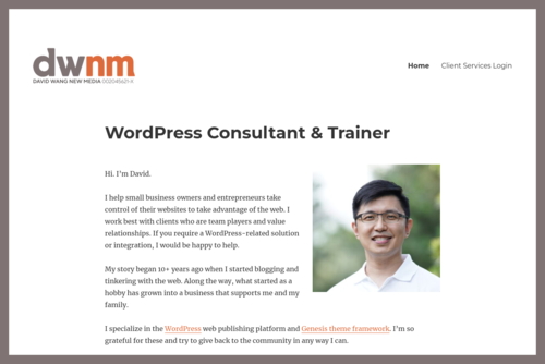 WordPress for small business - even better with the Headway Theme - http://buzzmedia.com.my