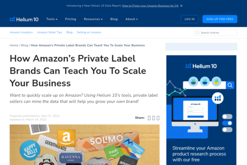 How Amazon's Private Label Brands Can Teach You To Scale Your Business - Helium 10 - helium10.com/blog/amazon-brands-teach-you-to-scale/
