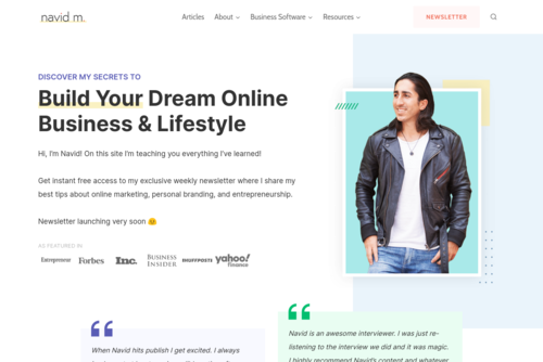 35 Lifestyle Entrepreneurs You Need to Know - Navid Moazzez - http://www.navidmoazzez.com