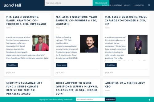 Bootstrapping for Fun and Profit - http://www.sandhill.com