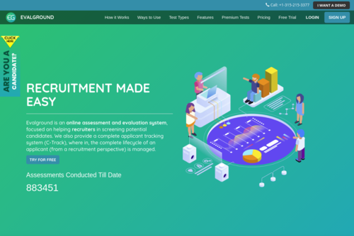 Technical Aptitude Test for all kinds of industries to assess candidates - https://codeground.in