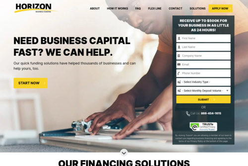 Small Business Financing: Planning a User Experience for Your Website  - http://horizonbusinessfunding.com