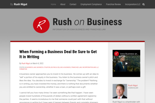 Partnership Agreements : Rush on Business - http://www.rushonbusiness.com