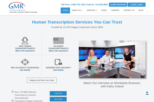 Atlanta Transcription & Translation Services						 - https://www.gmrtranscription.com