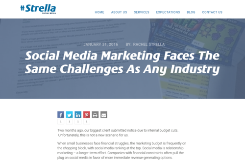 Social Media Marketing Faces The Same Challenges As Any Industry  - strellasocialmedia.com/2016/01/social-media-marketing-faces-challenges-industry