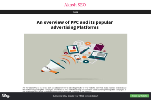 An overview of PPC and its popular advertising Platforms - http://akashseo.sitey.me
