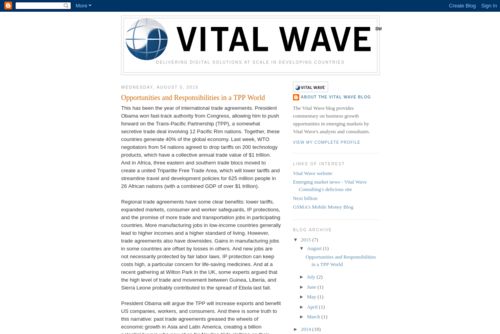 Small and medium-sized enterprise may be key in emerging markets - http://vitalwave.blogspot.com