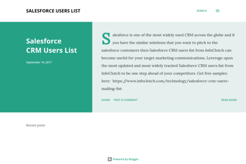 Salesforce CRM Users List - http://salesforceuserslist.blogspot.in