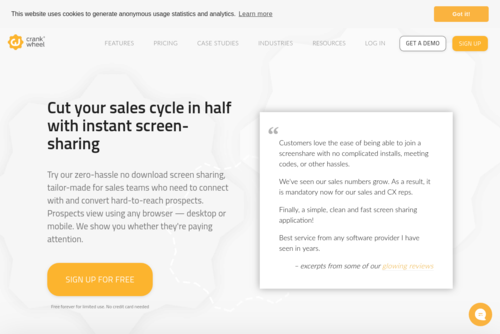 Use LinkedIn Sales Navigator & online demos: Shorten your sales cycle  - CrankWheel - https://crankwheel.com