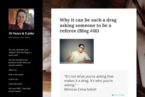 Why it can be such a drag asking someone to be a referee  - http://www.10years9jobs.com