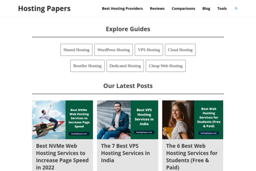 Best Shared Hosting Services - Hosting Papers - https://hostingpapers.com