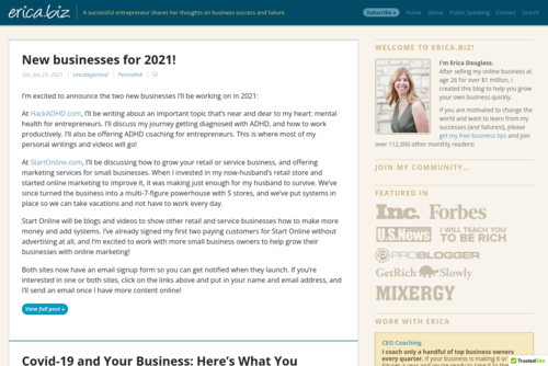 Do You Really Want to Start a Business? - http://www.erica.biz