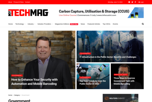 Top Government Tech Solution Providers  - https://government.mytechmag.com