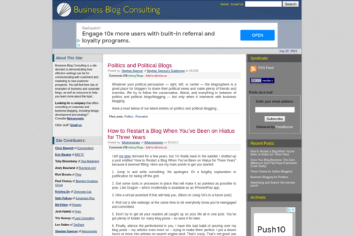 12 Tips for Marketing New Blogs : Business Blog Consulting - http://www.businessblogconsulting.com