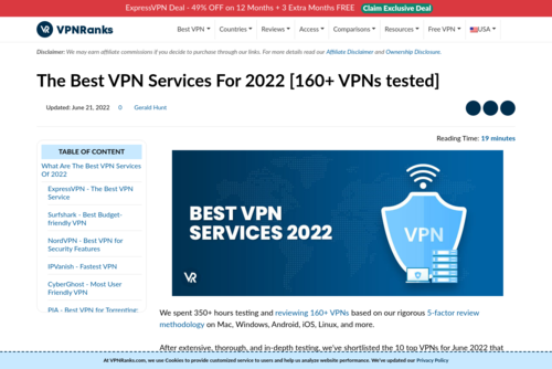 GDPR Winners & Losers: 46 out of 83 VPNs FAIL to Comply with GDPR - https://www.vpnranks.com
