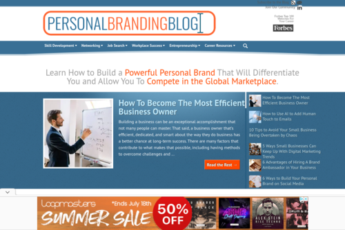 Lessons From a Year of Personal Branding Blog Posts  - http://www.personalbrandingblog.com