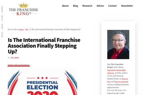 Did The International Franchise Association Finally Step Up? - thefranchiseking.com/international-franchise-association