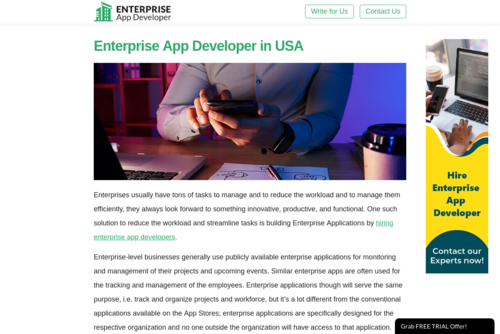 Hire Enterprise App Developer in USA - http://enterpriseappdeveloper.net