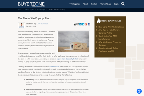 The Rise of Retail Pop-Up Shops - Industry Insights - www.buyerzone.com/retail/industry-insights/retail-pop-up-shops/