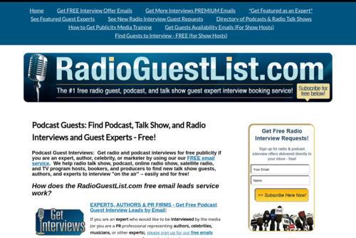 Free Tips to Help You Get Interviewed on Radio, TV, and Podcast Talk Show Programs - Radio Guest List.com - http://www.radioguestlist.com